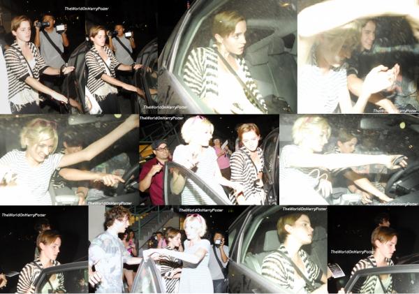 02 / 08 / 11 : Emma a été aperçue à Los Angeles  avec ses amis