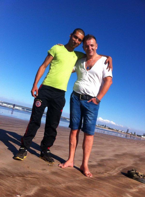 avec alain mon ami francais a la plage