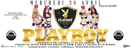 """PLAYBOY PARTY"" SEXY HOUSE SESSIONS @ LE VOGUE 21.200 BEAUNE"