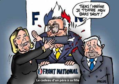 Petit tour d'horizon du FN : de père en fille.