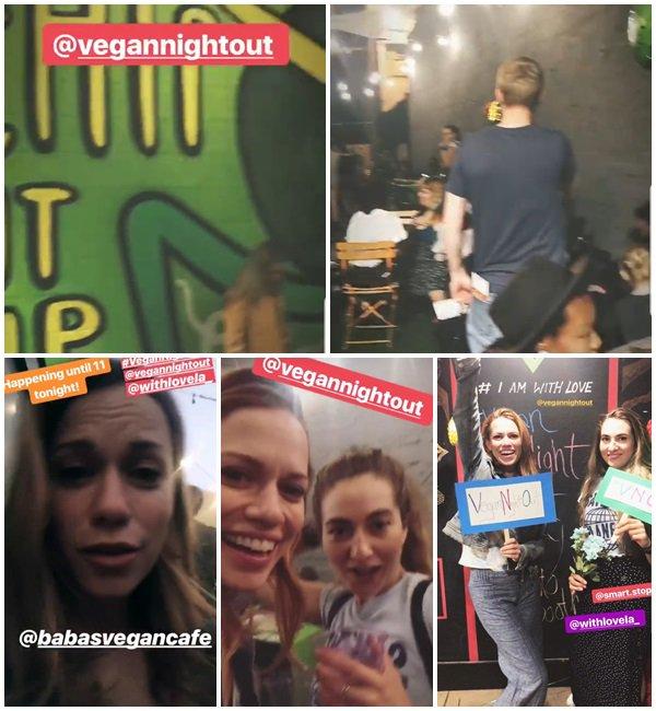 22 Septembre 2018 - Bethany était à la soirée Vegan Night Out