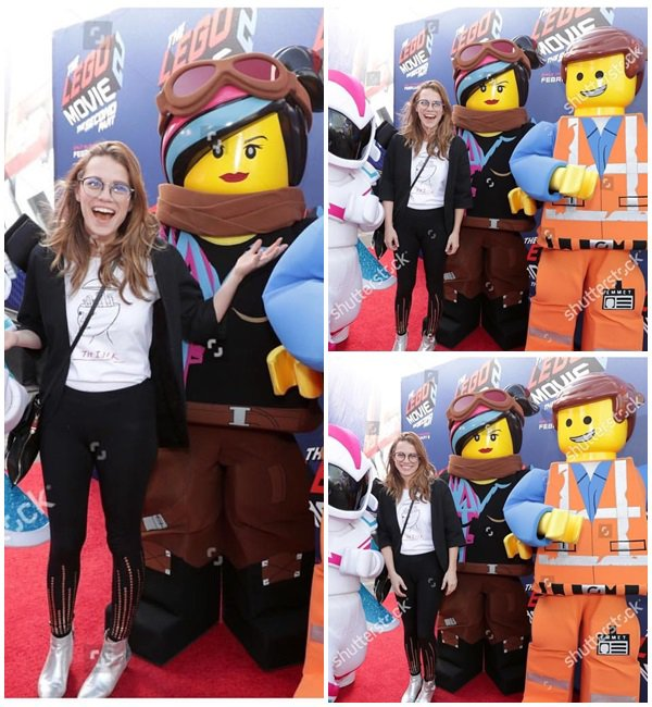 27 Janvier 2019 - Bethany était au Warner Bros. Pictures THE LEGO SPACE Hollywood event
