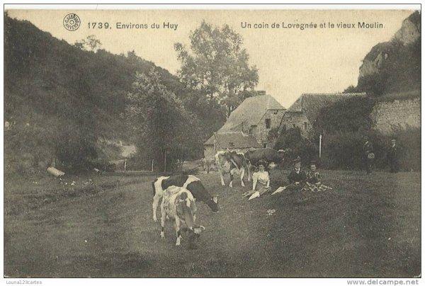 1739-Environs de huy un coin de Lovegnée et le vieux Moulin