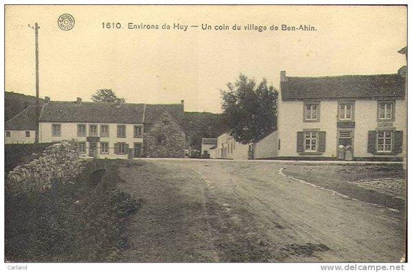 1610-Environs de Huy-Un coin du village de Ben-Ahin.
