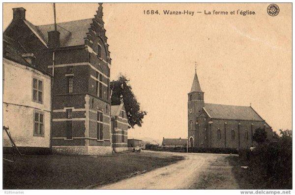 1684-Wanze-Huy-La ferme et l'église.