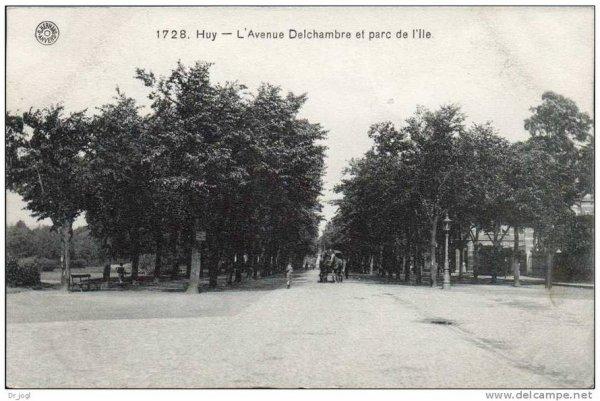 1728-Huy-L'Avenue Delchambre et parc de l'Ile.