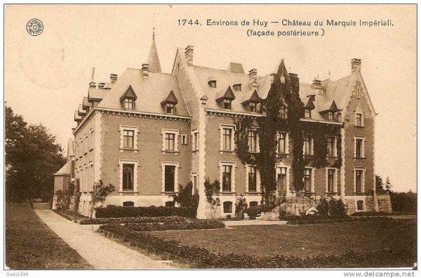 1744.Environs de Huy-Chateau du Marquis Impériali, (Façade postérieure)