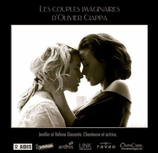 Jen et Vahina pour les couples imaginaires d'Olivier Ciappa