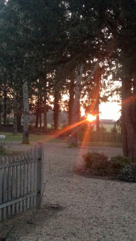 soleil rouge, éblouïssant ce matin...