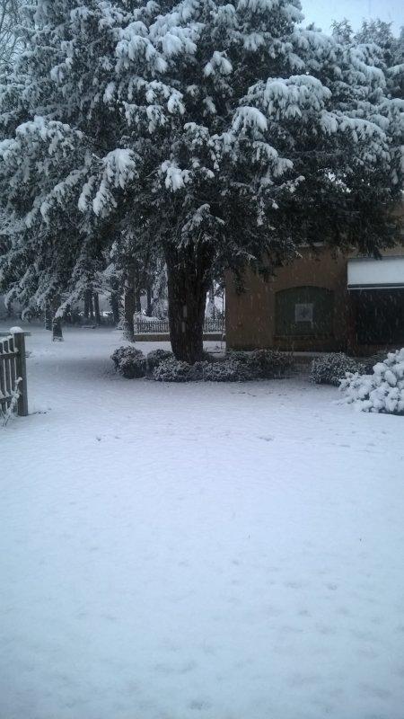 Et ce soir, la neige a tout recouvert... un effet magique !