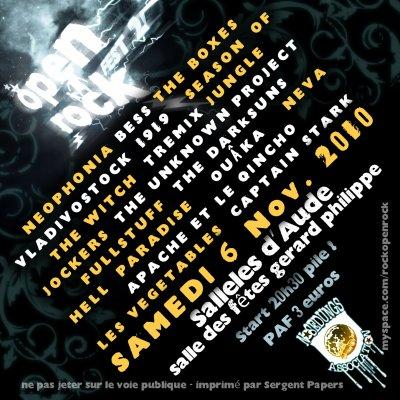 En concert le 06 novembre à Sallèles d'Aude