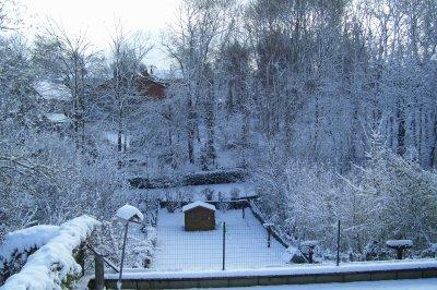 Mon jardin dans la neige