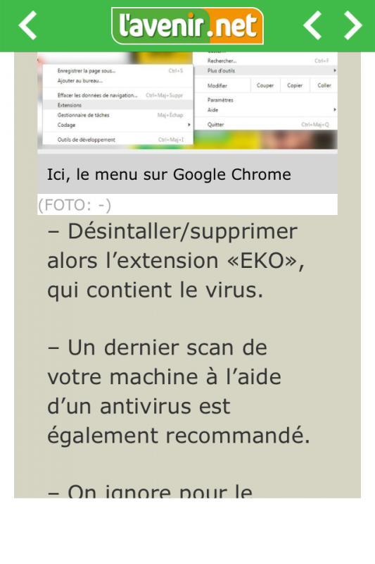 Pour info au sujet des virus facebook