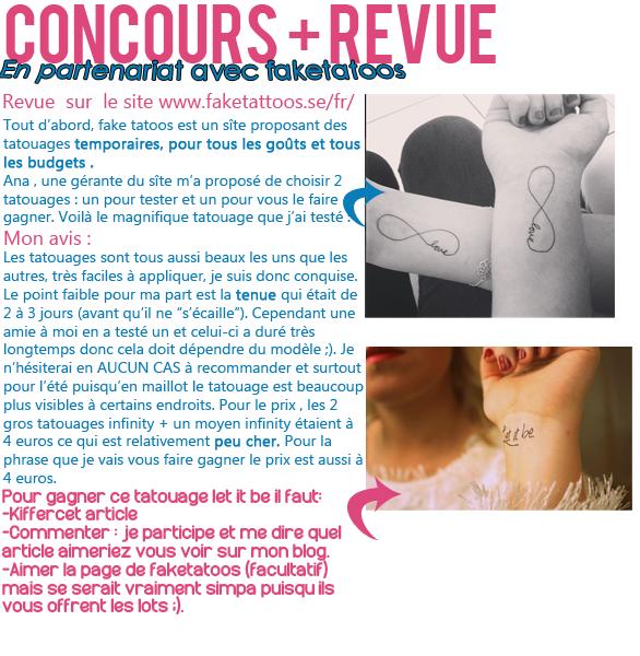 × Concours + revue : fake tatoos ×