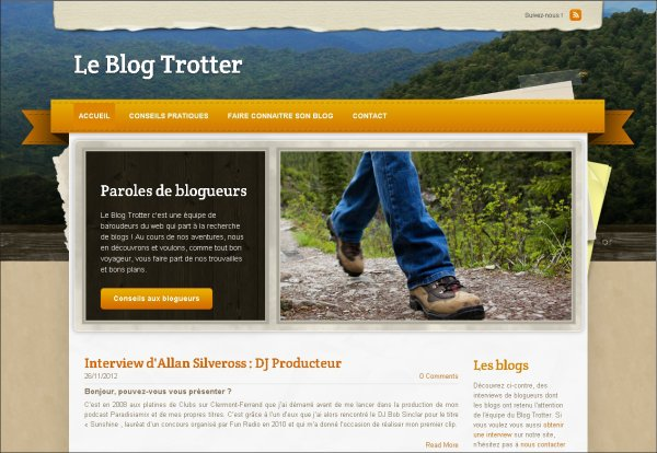 "Allan Silveross en interview sur ""Le Blog Trotter"""