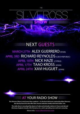 """""""THE SILVEROSS SHOW - DJ GUEST"""" : PROGRAMME AVRIL"""