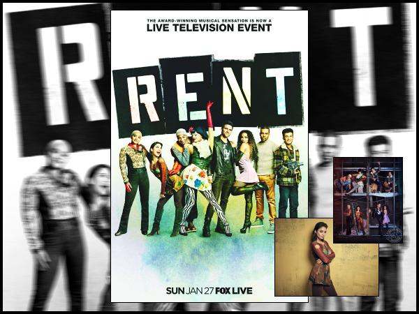 """"""" • Voici l'affiche promo du live « RENT » qui sera diffusé le 27 janvier 2019 sur FOX ! -"""
