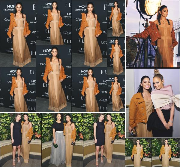 - 15.10.18 ─ Vanessa Hudgens était présente à la soirée « Elle's Women In Hollywood Celebration » à Los Angeles ![/s#00000ize]Vanessa était présente à l'évènement dans une tenue des plus originales mais qui lui va très bien pour le coup ! Elle à posée au côté de  Jennifer Lopez !  -