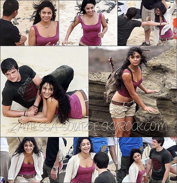 10/11/10:            Vanessa toujours sur le tournage de Journey 2, elle a l'air de bien s'éclater.