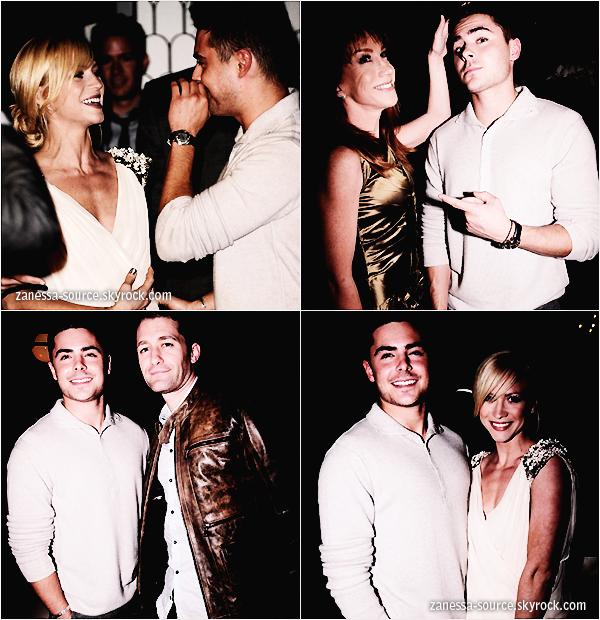 """09/01/11:            Zac au """"Audi and J. Mendel kick off party Golden globes"""" où il a posé avec plusieurs stars dont Brittany Snow."""