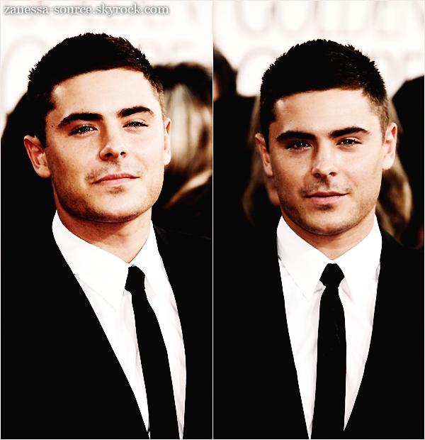 16/01/11:            Zac plus beau que jamais à la cérémonie des Golden Globes Awards  $).