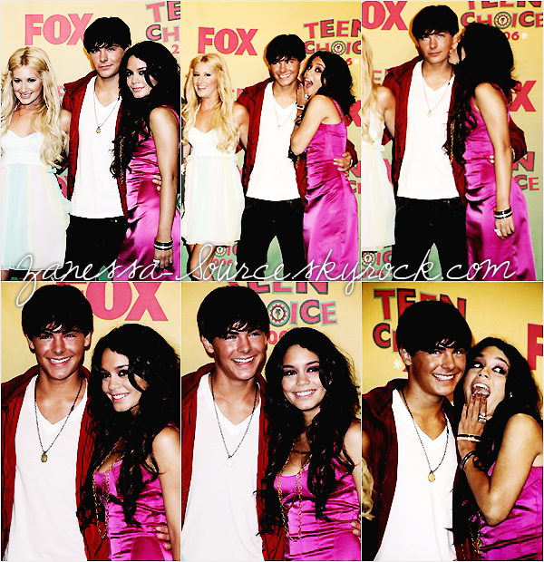 REMEMBER:   06/08/06:            Zac, Vanessa et le cast d'HSM au teen choice awards.