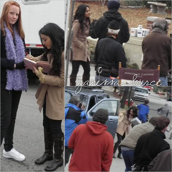 28/01/11:            Vanessa sur le set de Journey 2: the mysterious island en caroline du nord.