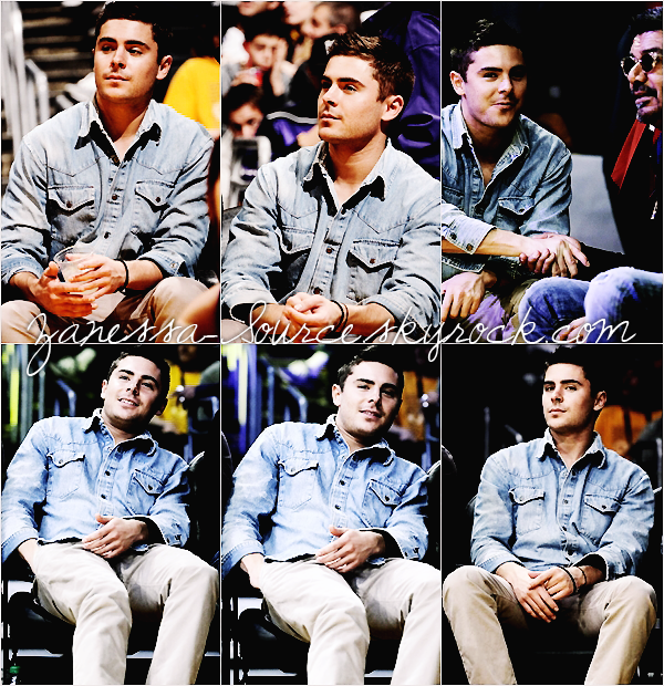 30/01/11:            Zac était au match des lakers au staples center de LA.