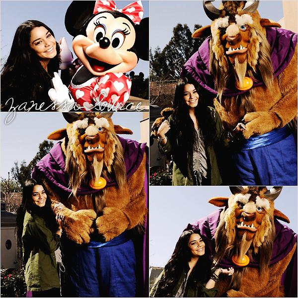 13/02/11:            Vanessa était à Disney world en Floride, comme quoi la Hudgens est toujours proche de ses débuts.