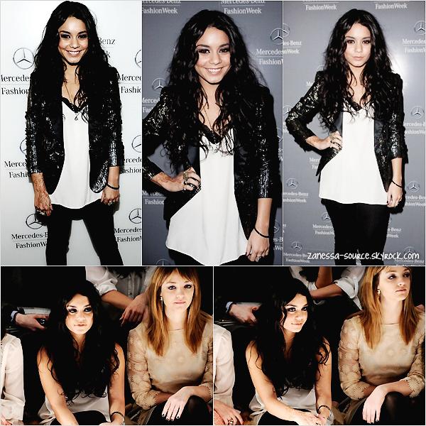 15/02/11:            Vanessa continue la fashion week, elle était à la présentation de Diesel à New york.