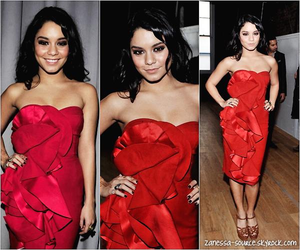 16/02/11:            Et ça continue! Vanessa toujours à la fashion week pour le défilé de Yiga Azrouel.