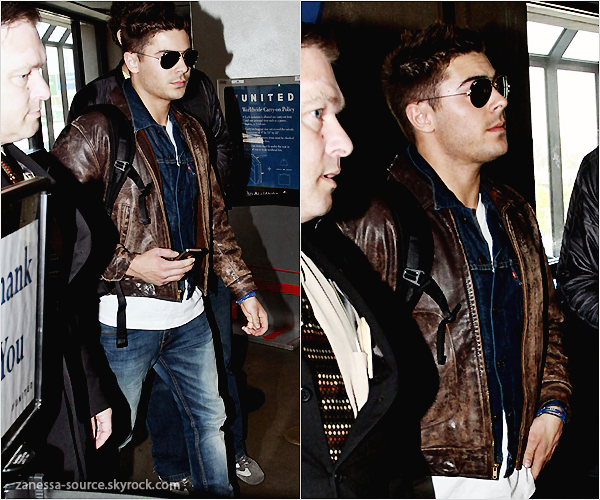 21/02/11:            Zac à l'aéroport de LAX, direction New York pour le tournage de New year's Eve.
