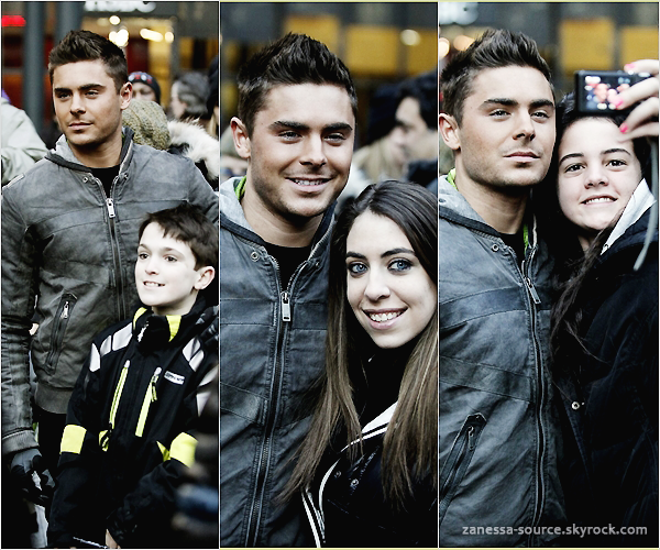23/02/11:            Encore plus de photos de Zac sur le tournage de New year's eve avec Michelle Pfeiffer.
