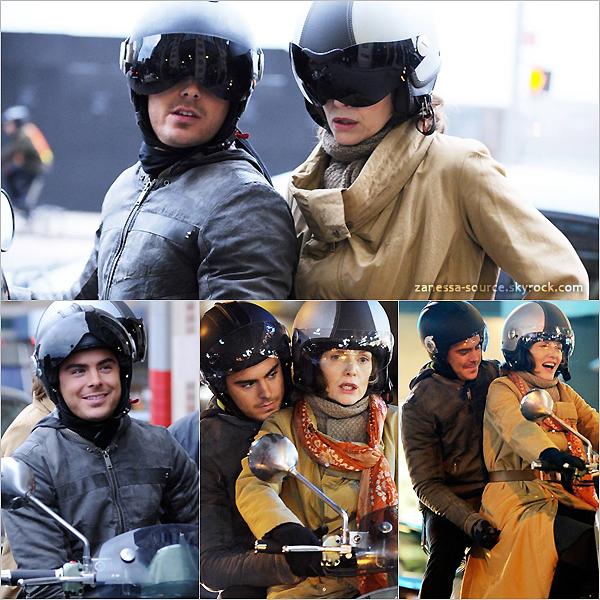 24/02/11:            Zac était une fois de plus sur le tournage de New year's eve avec sa co-star Michelle Pfeiffer.