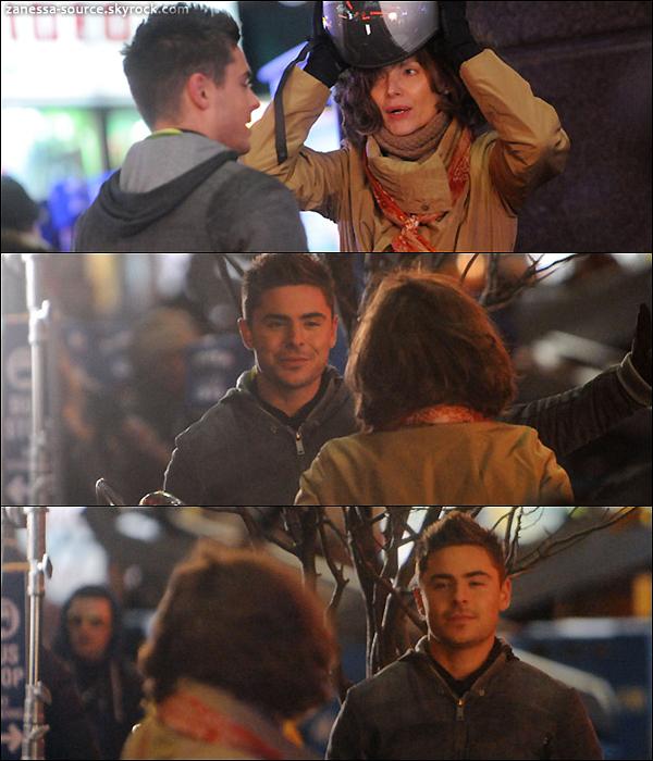 25/02/11:            Zac toujours sur le tournage de New year's eve avec Michelle Pfeiffer à NYC.