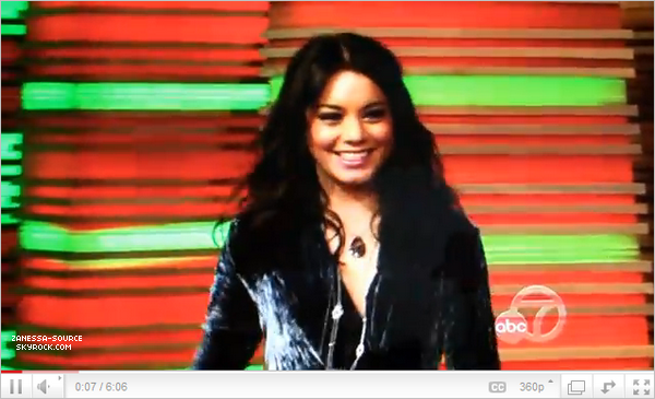 03/03/11:            Vanessa allant au Early Show puis au Live with Regis and Kelly.