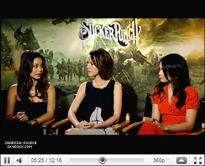 19/03/11:            Vanessa à la première press conférence pour SUCKER PUNCH à Beverly Hills.
