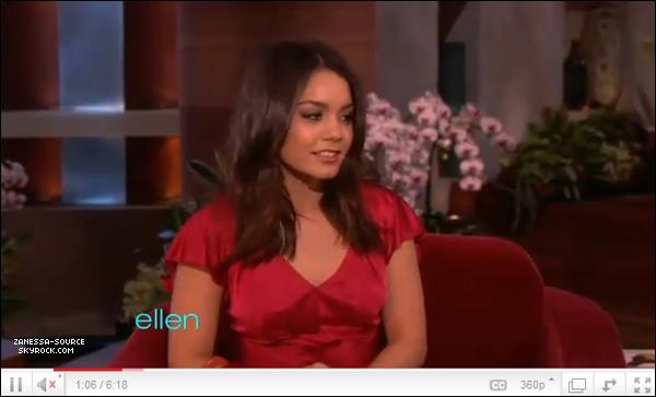 23/03/11:            Vanessa au ELLEN DEGENERES SHOW   + Traduction sur cet article.
