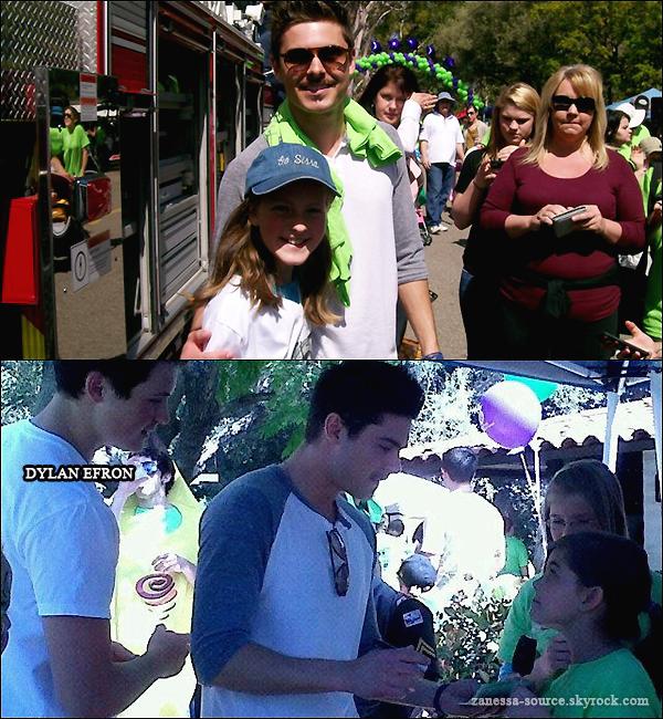 03/04/11:            Zac dans sa ville natale (San Luis Obispo) à une marche pour les autistes.