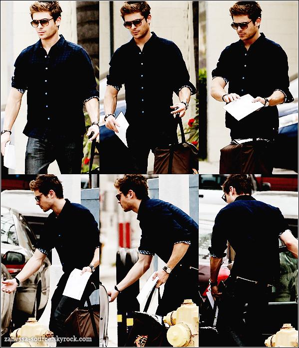 20/04/11:            Zac portant un sac zen food, une lettre et rejoignant une voiture dans LA.