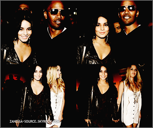 13/05/11:            Vanessa et Laura New à la belvedere red party en France où elle a rencontré Jamie Foxx.