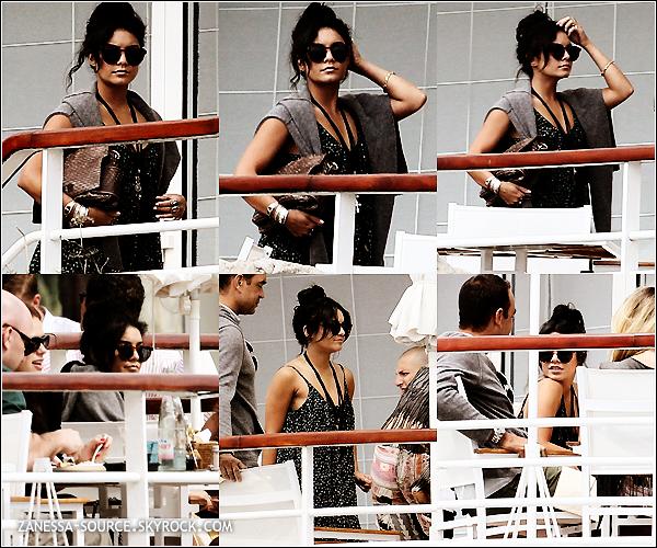 14/05/11:            Vanessa quittant l'hôtel martinez palace où elle loge pendant son séjour à Cannes.