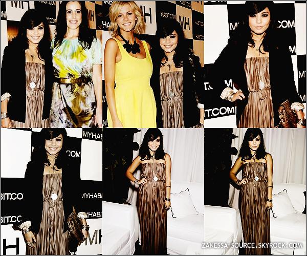 18/05/11:            Vanessa était à la fête en l'honneur de l'ouverture du site internet MYHABIT.com à NYC.