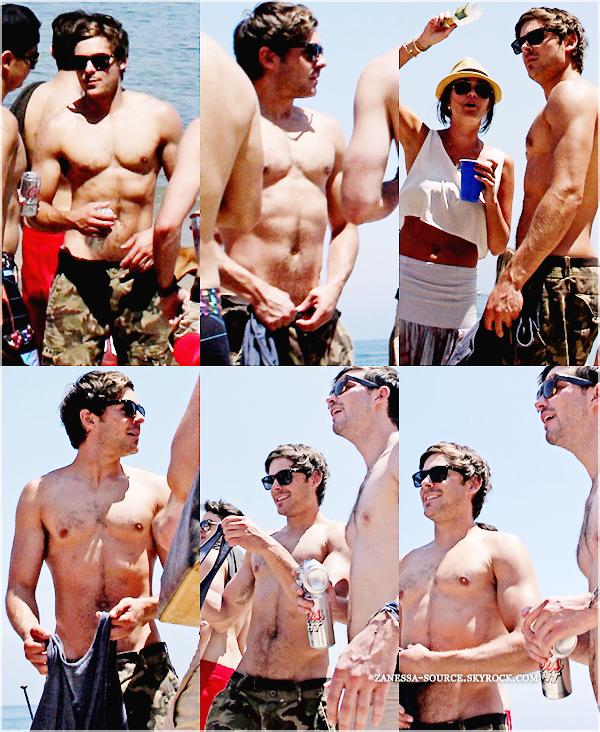 04/07/11:            Zac fête le jour de l'indépendance avec quelques amis sur une plage de Malibu. MIAM !