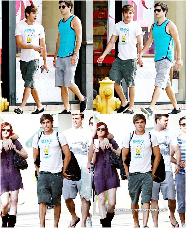 05/07/11:            Zac se promenant avec des amis dont Ryan Rottman & Rumer Willis puis s'arrêtant pour faire du shopping au Urban Outfitters dans studio city.