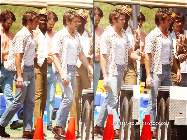 23/08/11:            Zac pendant une pause sur son tournage de THE PAPERBOY en Louisiane.