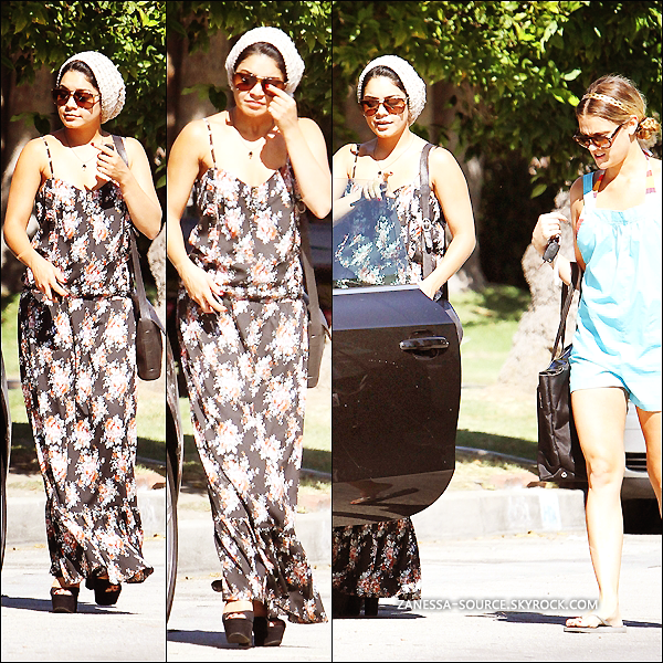 25/08/11:            Vanessa quittait la maison d'un ami dans studio city avec son pot de colle: Laura New.