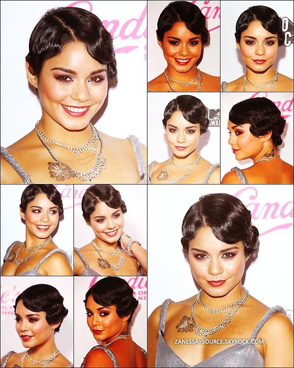 28/08/11:            Puis comme prévu, Vanessa était au MTV Vidéo music award au Nokia theatre à LA, elle était également l'hôte de l'after party organisée par Candie's.