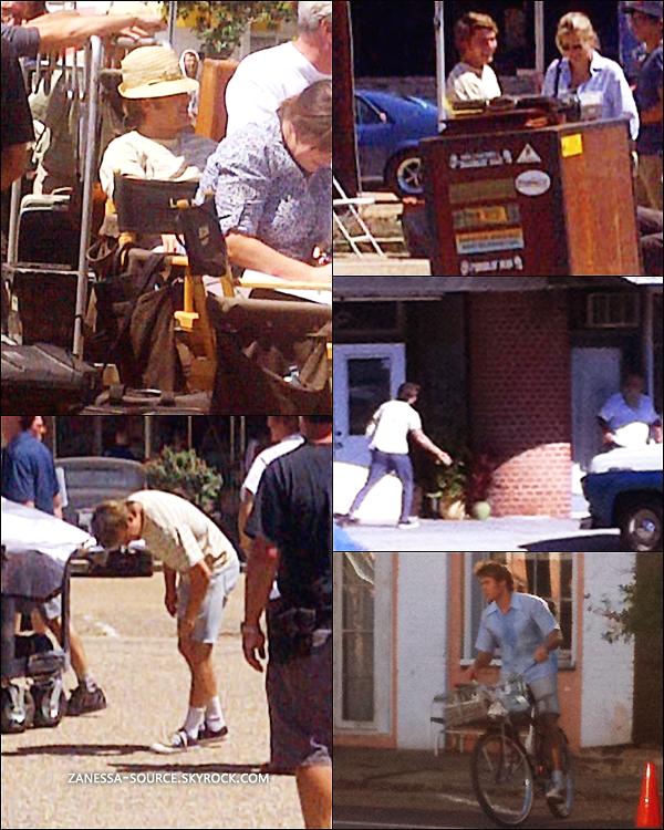 07/09/11:            Zac était comme à son habitude sur le tournage de THE PAPERBOY en Louisiane.