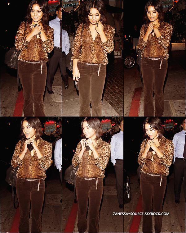 23/09/11:            Vanessa quittant le château marmont après y avoir dîné dans LA.